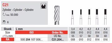 Metallbor C21 FG 008