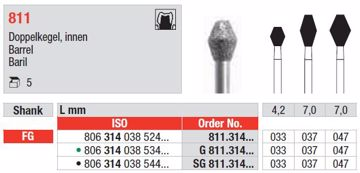 Diamant bor SG811 FG 047