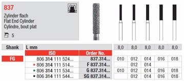 Diamant bor SG837 FG 012