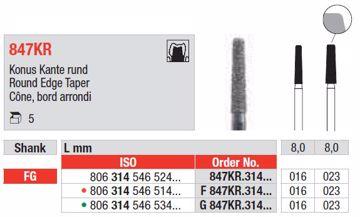 Diamant bor G847KR FG 016