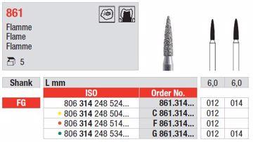 Diamant bor 861 FG 012