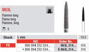 Diamant bor 863L FG 016