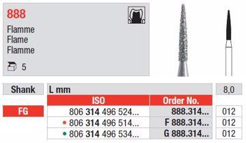 Diamant bor 888 FG 012
