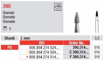Diamant bor F390 FG 016