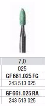 Polering GF661 025 RA lille flamme