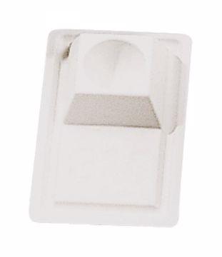Blandekopper med 1 hull hvit plast 3401W