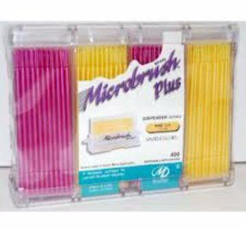 Microbrush Plus refill rosa og gul
