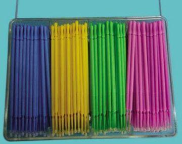Microbrush Plus  lilla,blå.grønn,fersken