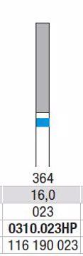Hardmetall Freser Fig.364. 0310.023HP