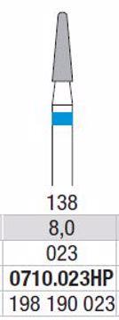 Hardmetall Freser Fig.138. 0710.023HP
