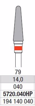 Hardmetall Freser Fig.79. 5720.040HP