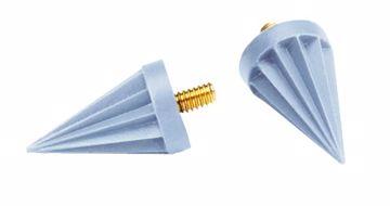 Young gummikopper/m skrue Pointed blå 059701