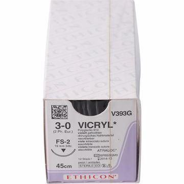 Sutur V393G vicryltråd 3-0 45cm natur FS-2