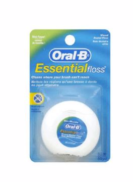 Oral-B Tanntråd Essentialfloss mint 217134