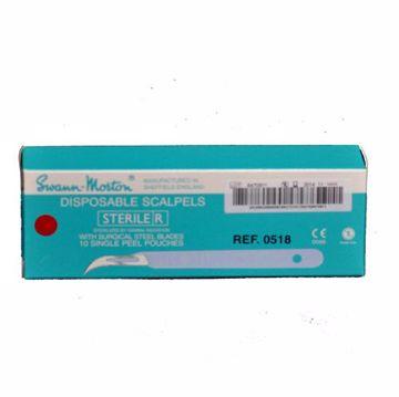 Swann-Morton sterile skalpell  nr.12D  0518