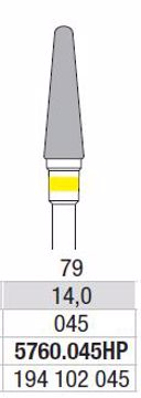 Freser  gul ring 5760 045HP