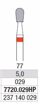 Hardmetall Freser Fig.77 7720.029HP