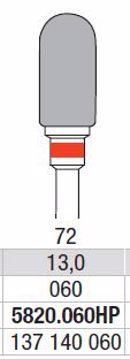 Hardmetall Freser Fig.72 5820.060HP