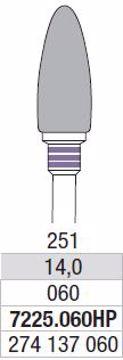 Hardmetall Freser Fig.251 7225.060HP