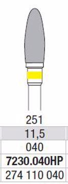 Hardmetall Freser Fig.251 7230.040HP