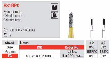 Hardmetall Sylinder H31RPC FG 010