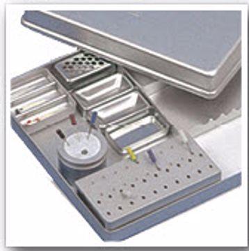 Endodontic tray grå aluminium 416355