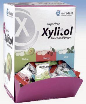 Miradent Xylitol drops i dispenser