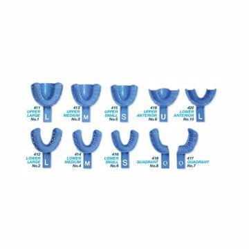 Premium avtrykksskjeer plast blå 417