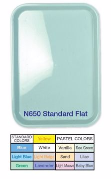 Premium bakke flat plast blue