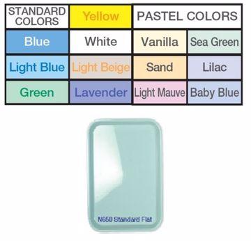 Premium bakke flat plast white