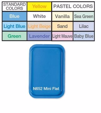 Premium bakke flat mini plast lightblue