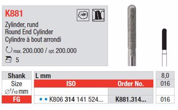 K-Diamanter FG K881 016 blå ring