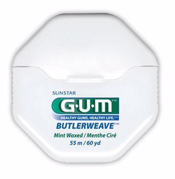 GUM Butlerweave Floss  vokset mint 1855