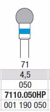 Hardmetall Freser Fig.71. 7110.050HP