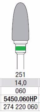 Hardmetall Freser Fig.251. 5450.060HP