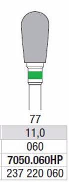 Hardmetall Freser Fig.77. 7050.060HP