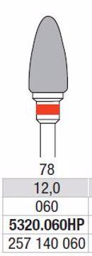 Hardmetall Freser Fig 78 5320 060 HP
