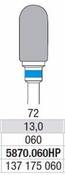 Hardmetall Freser Fig 72 5870.060HP