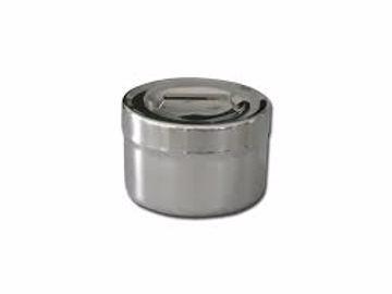 Krukke m/lokk rustfritt stål