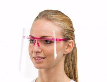 Polycarbonate beskyttelses visir med ramme